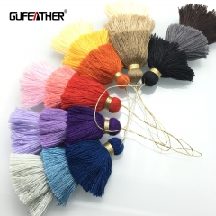 GUFEATHER L16 Cotton tassel  8CM 3layer