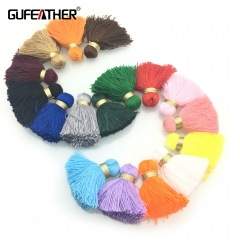 GUFEATHER L29 Cotton tassel 4CM 4pcs/bag
