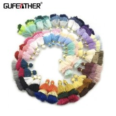 GUFEATHER  L81  Cotton tassel  3.5CM  2pcs/bag