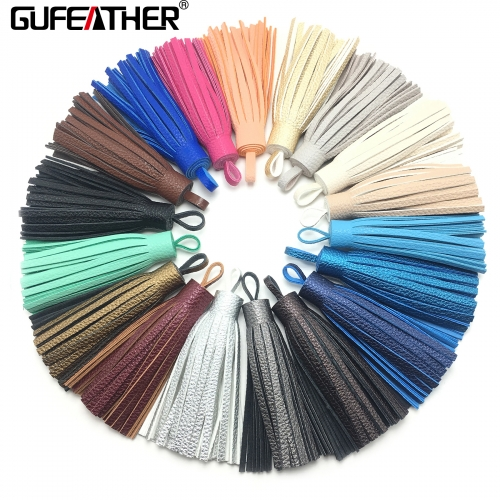 GUFEATHER L88 PU Leather tassel  10CM