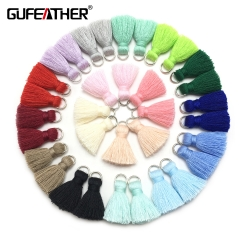 GUFEATHER  L46  Cotton tassel  2CM 10pca/bag