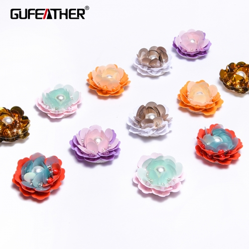 GUFEATHER F74 Sequin flower 2.5CM 4pcs/bag
