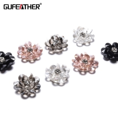 GUFEATHER F71 Sequin flower 2pcs/bag