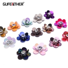GUFEATHER F79 Sequin flower 2.4CM 4pcs/bag