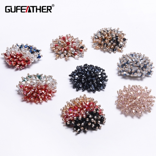 GUFEATHER F68 Sequin flower 1pcs/bag