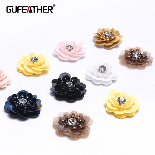 GUFEATHER F67 Sequin flower 4pcs/bag