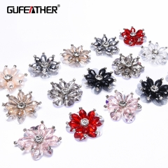 GUFEATHER F73 Sequin flower 4CM 2pcs/bag