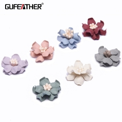 GUFEATHER F100 Patch flower 2cm 10pcs/bag