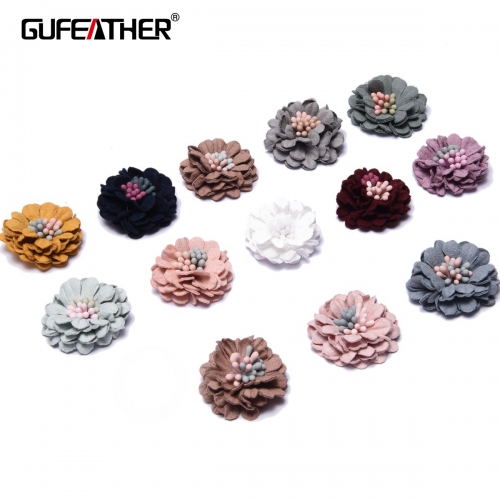 GUFEATHER F91 Patch flower 3cm 4pcs/bag