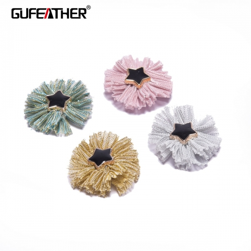 GUFEATHER F104 Patch flower 3cm 10pcs/bag