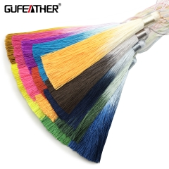 GUFEATHER L165 Gradient silk tassel 13cm 2pcs/bag