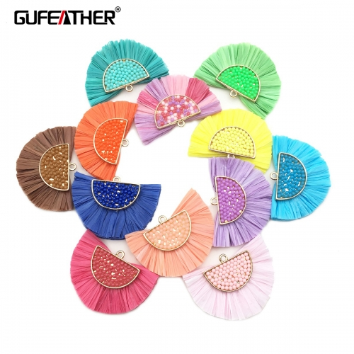 GUFEATHER L163 Raffia tassels 3cm 2pcs/bag