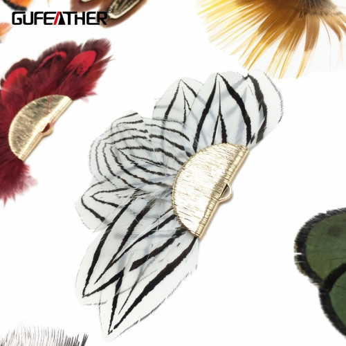 GUFEATHER L160 Feather tassel 8cm 2pcs/bag