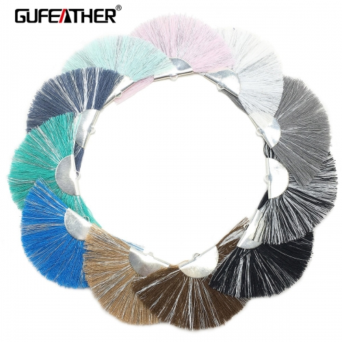 GUFEATHER L149 Cotton tassel 7.5cm 2pcs/bag