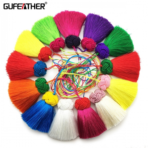 GUFEATHER L180 silk tassel 5.5cm 2pcs/lot