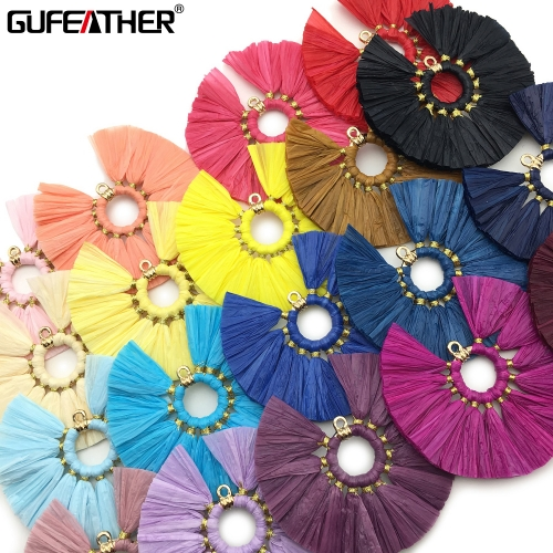 GUFEATHER L181 raffia tassel 5.5cm 2pcs/lot