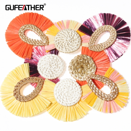 GUFEATHER L189 raffia tassel 7.2cm 4pcs/lot