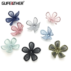 GUFEATHER F124 fabric artificial flower 4cm 20pcs/lot