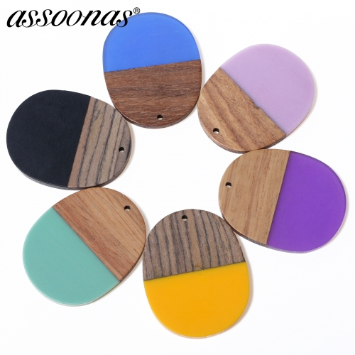 assoonas M282,wood jewelry accessories,3.6cm,6pcs/lot