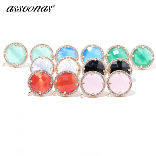assoonas M329,Crystal earings accessories,2pcs/lot