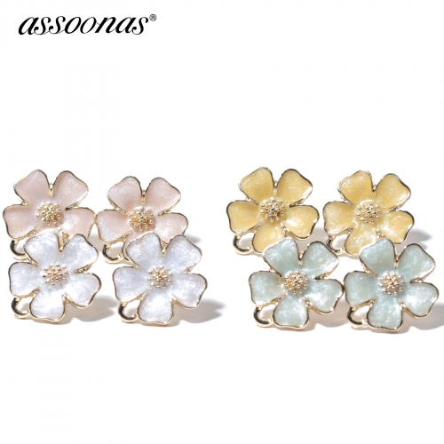 assoonas M340,stud earrings,hand made,diy earrings,10pcs/lot