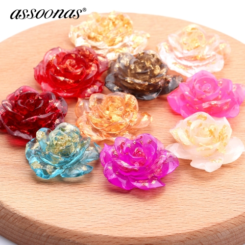 assoonas M365,jewelry findings,flower pendant,6pcs/lot