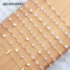 assoonas M347,Metal bead chain,jewelry findings,3m/lot