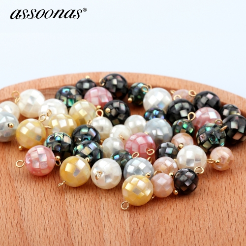 assoonas M346,pearl pendant,earrings findings,diy earrings pendant,6pcs/lot