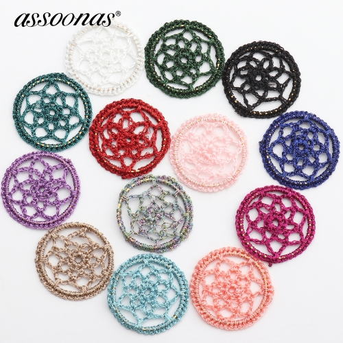 assoonas M371,diy home clothing decorative,round shape patch,earrings pendant,10pcs/lot