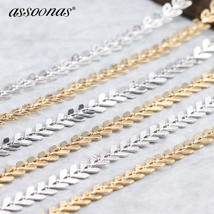 assoonas C34,silver gold chains,necklace for women,100CM
