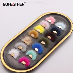 GUFAEATHER L199,fur tassel,jewelry accessories,diy earrings,10pcs/lot