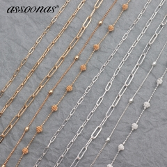 assoonas C35,chain,jewelry making,diy earrings pendant,3m/lot