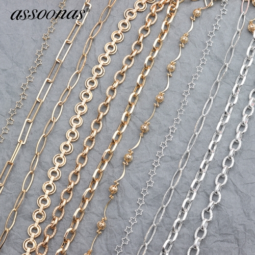 assoonas C38,diy chain,jewelry accessories,50cm/lot