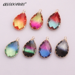 assoonas M415,glass earrings pendant,accessories parts,metal frame,6pcs/lot