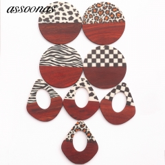 assoonas M411,wood acrylic earrings pendant,earrings accessories,10pcs/lot