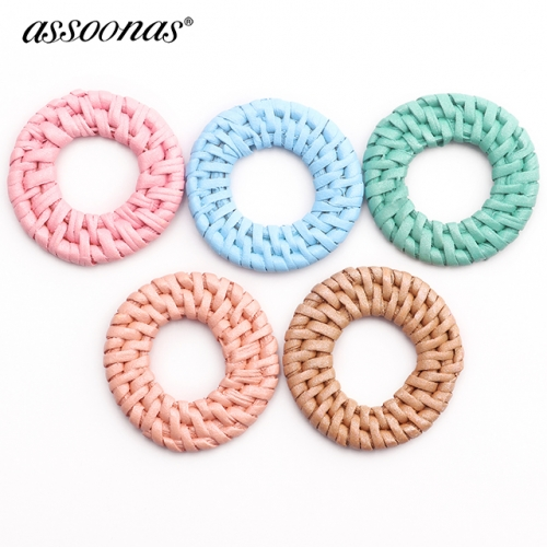 assoonas M417,bamboo rattan pendant,diy earrings,10pcs/lot