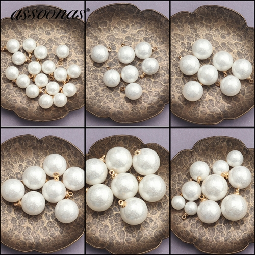 assoonas M433,Artificial pearl,diy earrings accessories,20pcs/lot