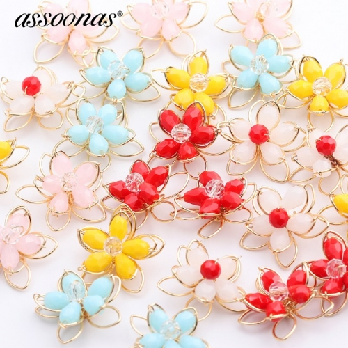 assoonas M427,flower shape accessories,diy earrings pendant,10pcs/lot