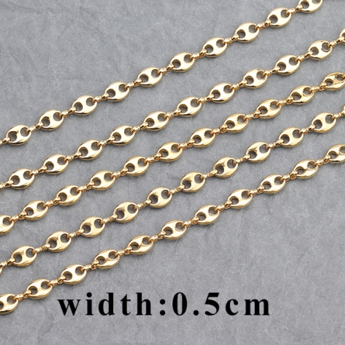 Dtstone C72,jewelry accessories,diy chain,18k gold plated,0.3 microns,copper metal,jewelry making,diy chain necklace,1m/lot