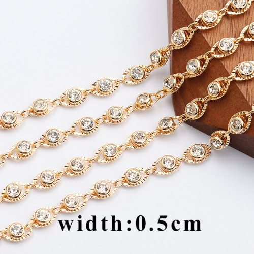 Dtstone C102,jewelry accessories,18k gold plated,0.3 microns,diy chain,zircon,diy bracelet necklace,jewelry making,50cm/lot
