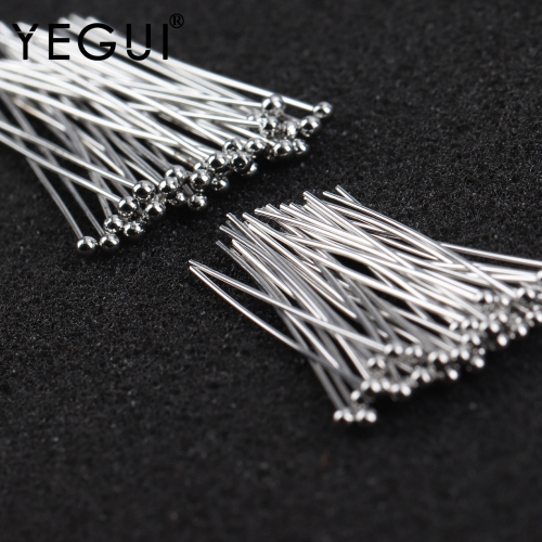 YEGUI M913,jewelry accessories,rhodium plated,copper metal,nickel free,needle,diy accessories,charms,jewelry making,25g/lot