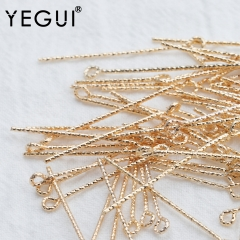 YEGUI M815,jewelry accessories,needle,18k gold plated,0.3 microns,diy accessories,nickel free,charm,jewelry making,50pcs/lot