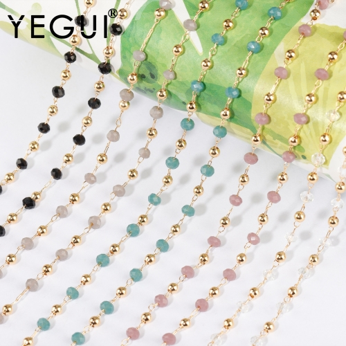 YEGUI C184,diy chain,18k gold plated,0.3microns,copper metal,beads,charms,hand made,diy bracelet necklace,jewelry making,1m/lot