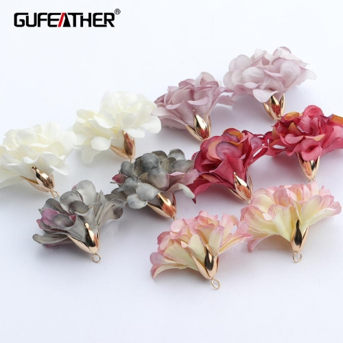 GUFEATHER F145,jewelry accessories,diy flower pendants,flower shape,charms,hand made,diy earring,jewelry making,10pcs/lot