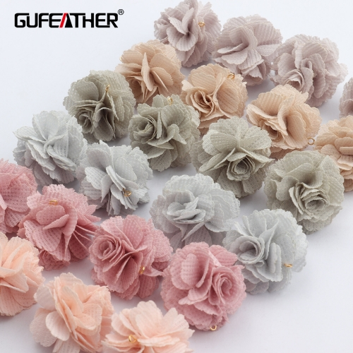 GUFEATHER F151,jewelry accessories,diy pendant,flower shape,hand made,jump ring,charms,jewelry making,diy earring,10pcs/lot