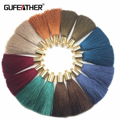 GUFEATHER L95/5CM/jewelry accessories/silk tassel with cap/diy jewelry/earings making /Tassel necklace/embellishments/4pcs/lot