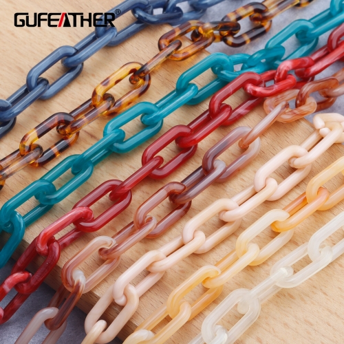 GUFEATHER C132,jewelry accessories,diy chain,plastic material,hand made,charms,jewelry making,diy bracelet necklace,1m/lot
