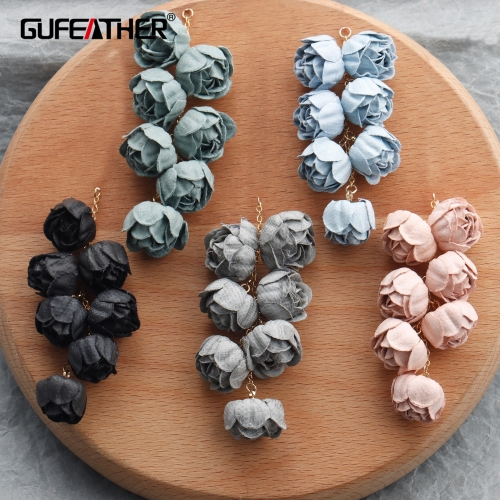 GUFEATHER M840,jewelry accessories,diy pendants,ear chain,flower shape,charms,hand made,jewelry making,diy earrings,6pcs/lot