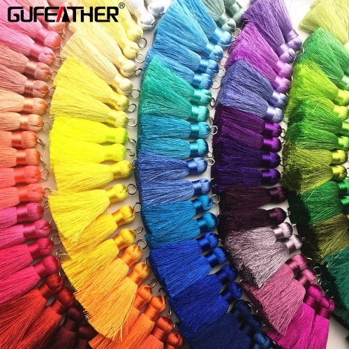 GUFEATHER L86/4CM/silk tassels/earrings accessories/Hand made jewelry/jewelry findings/diy materials/ 2pcs/lot
