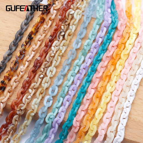 GUFEATHER C112,jewelry accessories,diy chain,plastic material,charms,hand made,diy bracelet necklace,jewelry making,1m/lot